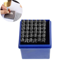 DoreenBeads 5mm Carbon Steel Gunmetal Number 0 9 Alphabet A Z Rectangle Punch Metal Stamping