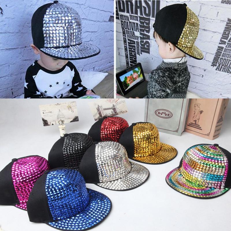 Prix pour 2015 Détail Enfants Casquettes de Baseball non-traditionnels rivet Hip hop Cap snapback chapeaux Bébé Garçons Filles casquette à visière
