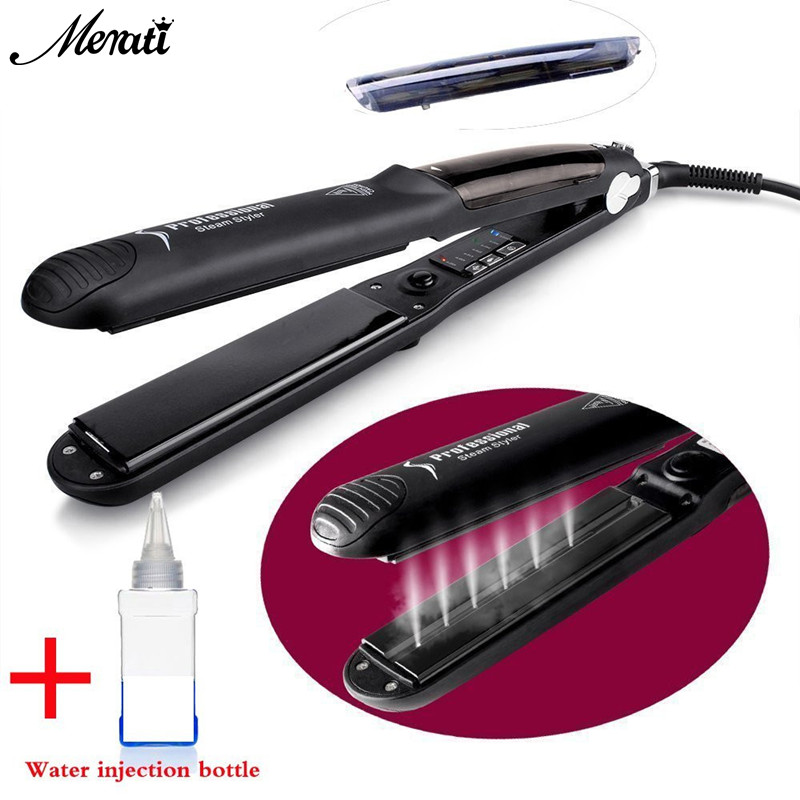 Professional Portable Hair Straight Hair Iron Steam Replenishment Straight Hair Stick Ceramic Hair Styling Tools 2017 new hot sale professional salon ptc heating white color ceramic negative ions steam automatic hair curler hair style tools