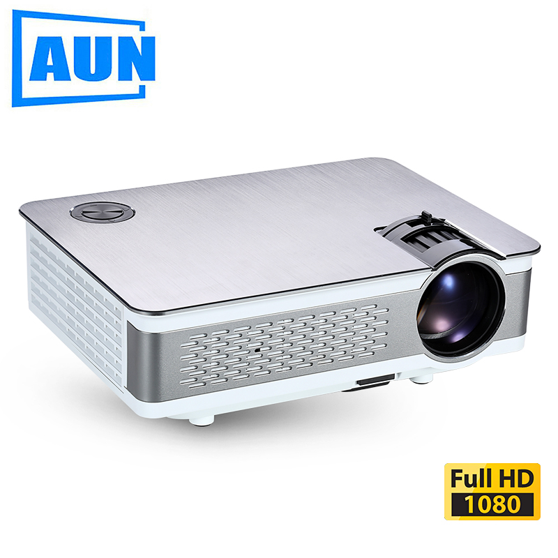 AUN Full HD Projector IMP-5803 UP. 1920*1080, 3,800 Lumens, Android LED Beamer with WIFI, Bluetooth, LED TV. Optional IMP-5803