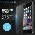 2 шт./лот 9 H твердомер премиум закаленное стекло защитная для iPhone 6 закаленное взрывозащищенный пленка для iPhone 6 4.7 дюймов