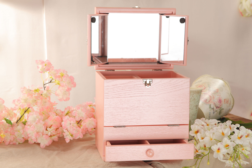 Portable Color Large Japanese Style Wooden Table Cosmetic