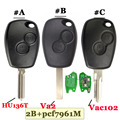 Бесплатная доставка (1 штука) 2 кнопки дистанционного ключа автомобиля 433 МГц с PCF7961M HITAG AES чип для Renault Logan II Sandero II no mark