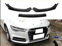 Углеродное волокно переднего бампера подбородка спойлер Защитная крышка для Audi A6 C7 2016 2018