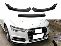 Carbon Fiber Front Bumper Chin Lip Spoiler Protection For Audi A6 C7 2016 2018