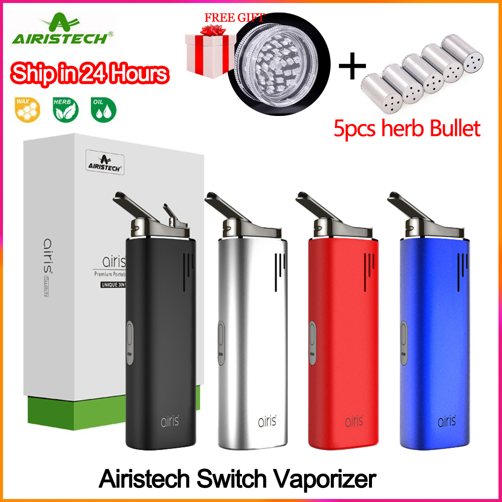 Original Electronic Cigarette Airistech Airis Switch Dry Herb Vaporizer 2200mAh Battery Ceramic Chamber Vape Pen for