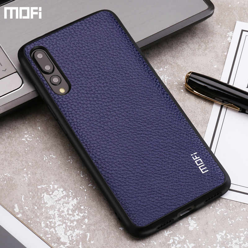 For huawei P20 pro case for huawei p20 case mofi for huawei p20 lite case for huawei nova 3e back cover PU leather soft edge
