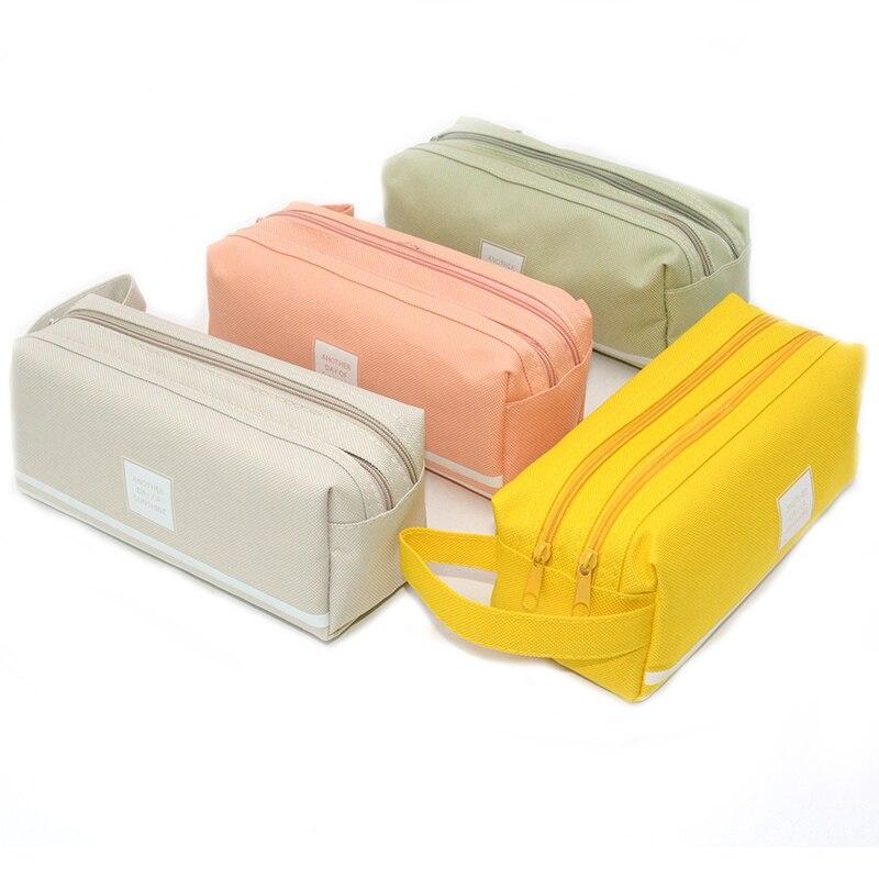 High Capacity Pencil Case Double Layer School Supplies Kawaii Estuche Escolar Trousse Scolaire Stylo Kalem Kutusu
