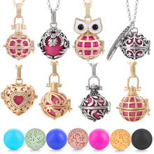 Vocheng Vintage Pregnancy Angel Ball Locket  Open Pendant Necklace for Aroma essential oil diffuser Jewelry Women Gift VA-021