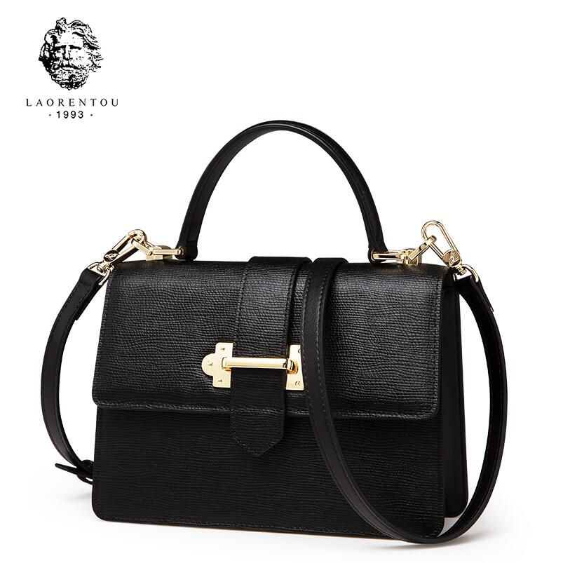 LAORENTOU female 2018 new fashion leather portable small square bag simple wild shoulder Messenger bag handbag laorentou 2018 new women s bag leather fashion simple shoulder bag crossbody bag small square package