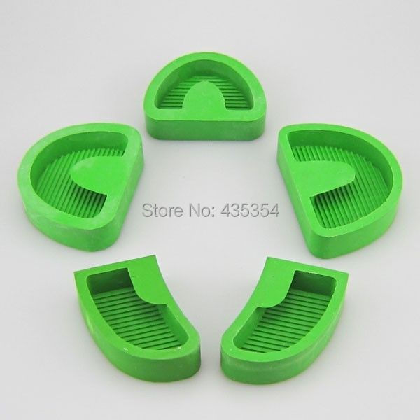 5pcs New Dental Laboratory Plaster Model Base Molds as shown in picture