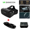 "Original Google Cardboard VR Shinecon Virtual Reality Helmet 3D Glasses for 4""-6"" Smartphone + Black Bluetooth Gamepad"