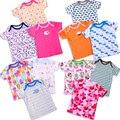 2015 bebê Recém-nascido marca camisetas meninos meninas crianças manga curta t camisas 100% algodão 5 pcs no bloco Verão Fino Crianças tops