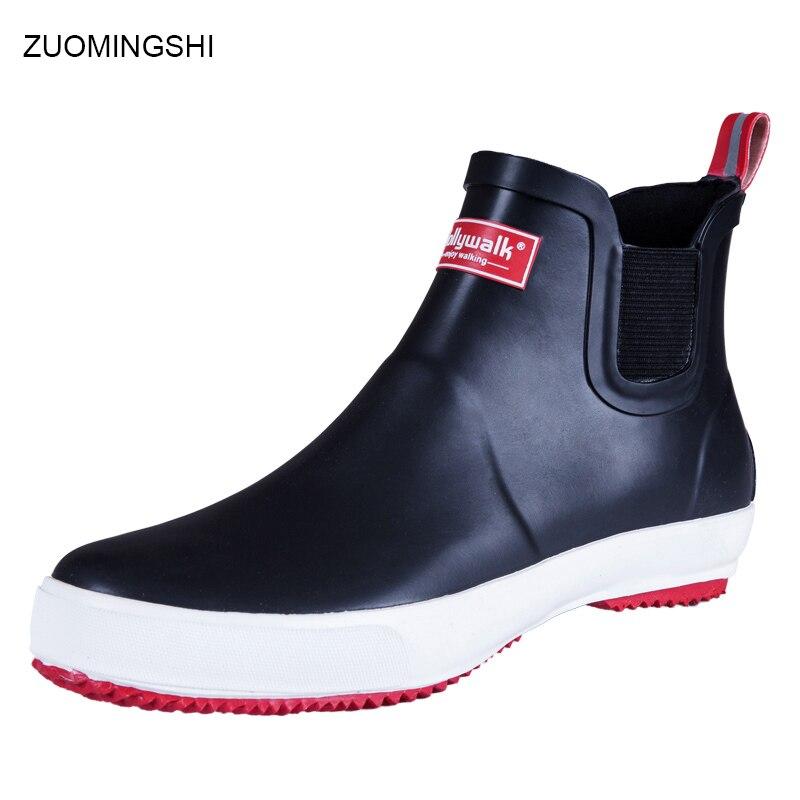 2018 vente hommes bottes de pluie en caoutchouc asker bot d'hiver bottes de pêche pour Hommes léger antidérapant bottes en caoutchouc galoches