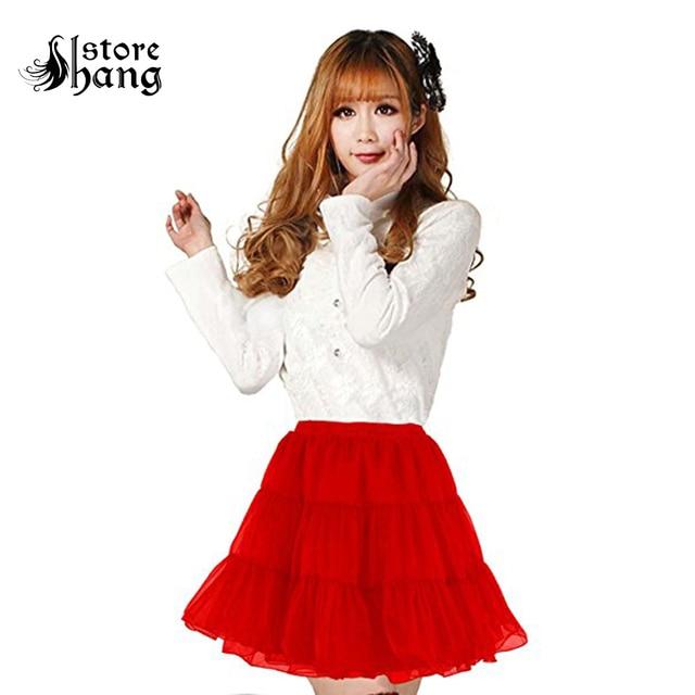fb9a31a033 Women's 50s Rock n Roll Hoopless Short Skirt Fancy Tutu Petticoat Vintage  Lolita Crinoline Underskirt Black