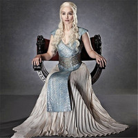 Feminino Game Of Thrones Queen Daenerys Targaryen Cosplay Costumes A Song Of Ice And Fire Dress