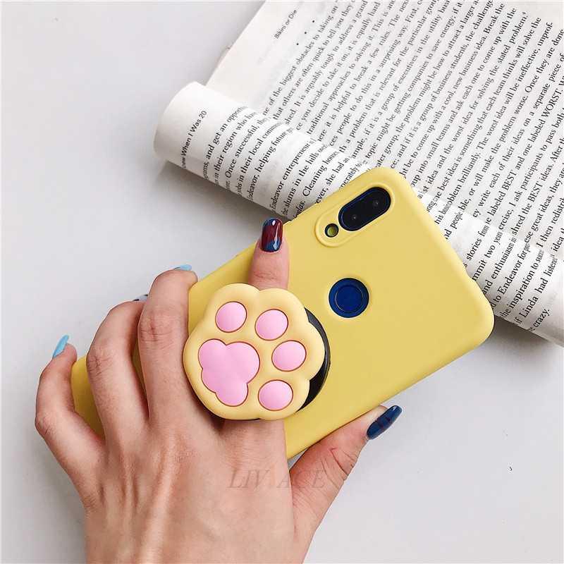 3D мультфильм складной палец ручка держатель мобильного телефона для iphone samsung xiaomi huawei чехол милый силиконовый держатель Подставка Кронштейн