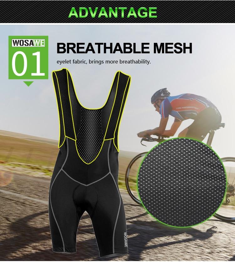 calções de bicicleta montanha estrada respirável 3d
