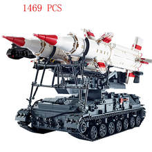 hot LegoINGlys military weapon war WW2 Soviet Union army Heavy tank Sam missile launcher Building Blocks MOC model bricks toys(China)