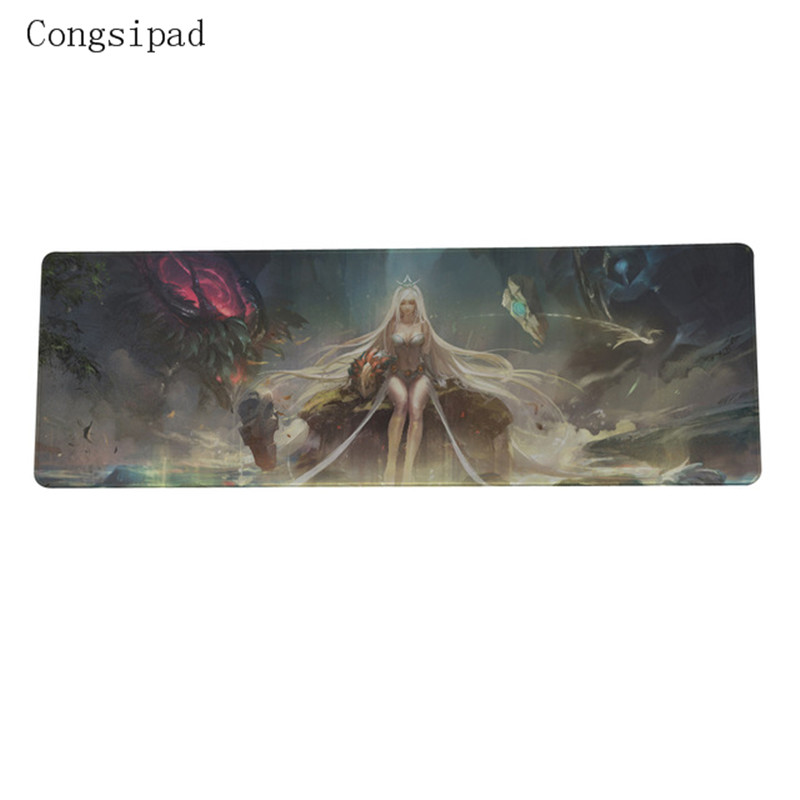 league of legends champion Janna mouse pad Free to send large computer mouse pad anti-skid table mat 30x90cm and 30x80cm size