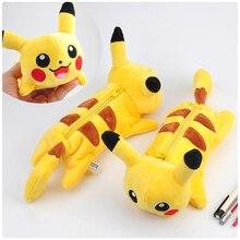Cartoon Plush Pikachu pencil case Cute Bts Pokemon pencil font b bag b font for font