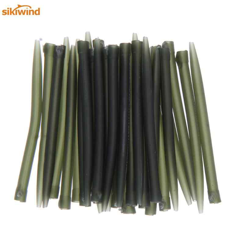 20pcs-80pcs TPR Terminal 35mm - 75mm Anti Tangle Sleeves Connect with Fishing Hooks Carp Fishing Tackle Boxes Pesca Iscas Tools