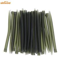 20pcs-80pcs TPR Terminal 35mm - 75mm Anti Tangle Sleeves Connect with Fishing Hooks Carp Fishing Tackle Boxes Pesca Iscas Tools sikiwind 30pcs carp fishing hook sleeve hair rig aligner sleeves soft anti tangle positioner terminal tackle carp fishing pesca