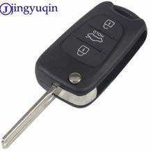Uncut Blade 3 Buttons Flip Remote Key Shell For HYUNDAI I30 IX35 For Kia K2 K5 Car Keys Blank Case Cover
