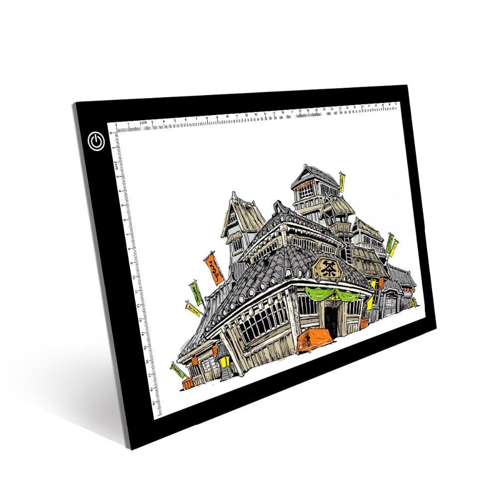 1 Satz A4 Led Beleuchtet Zeichnung Bord, Student Grafiken Zeichnung Tablet, Micro Usb Draht Animation Skizzieren Licht Bord Rheuma Lindern