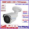 HD Analog bullet camera 1080P AHD-H AHD L IMX323 Night Vision security camera outdoor, varifocal Lens, OSD, + free bracket