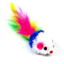 Original Pet Cat Toys Mouse Feather Toy Funny Rabbit Fur False Mini Training Playing For Cats Kitten Product