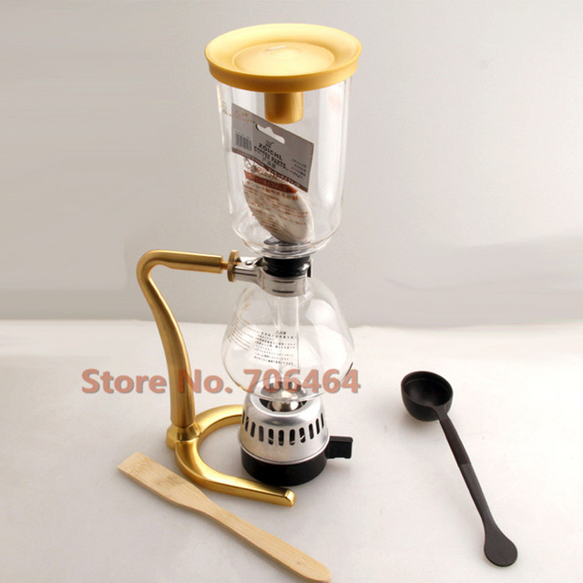 Luxury Home Coffee Maker : Aliexpress.com : Buy New Luxury 3 cups Siphon Gold Syphon coffee maker vacuum coffee brewer ...
