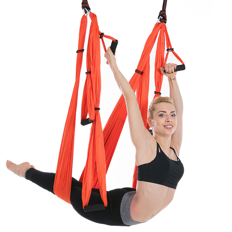 Sports & Entertainment Yoga Sy05 Anti-gravity Yoga Hammock Fabric Flying Swing Aerial Equipment Traction Yoga Hammock Set Pilates Equipment Body Shaping Great Varieties