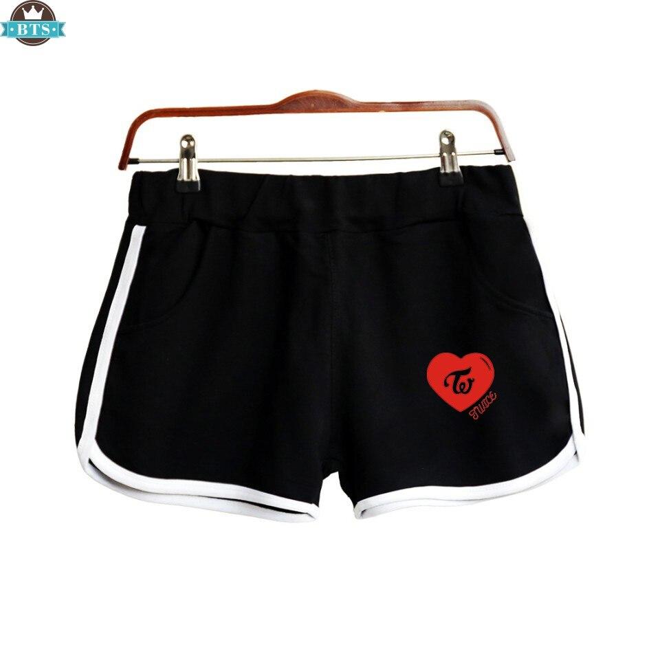 2018 Due Volte Shorts Donne Casual Cotone Femme Di Contrasto Elastico In Vita Shorts Asciugatura Rapida Coulisse Abbigliamento Scelta Materiali