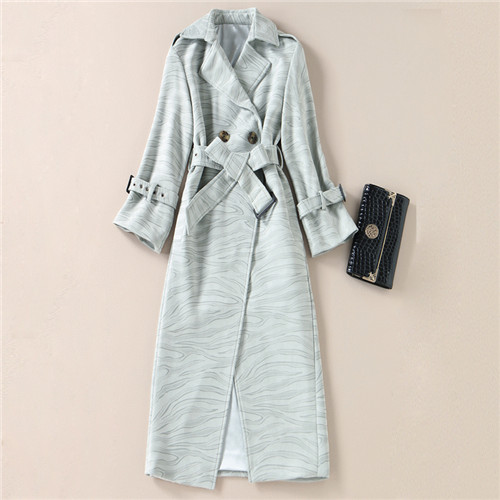 2017 Women Winter Coats Long Sleeve Suede Coats with Belt Pattern Printed High Quality Winter Casual Long Coat Manteau Femme xl