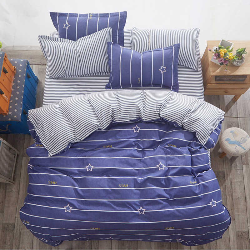 Bedding Set Duvet Cover Sheet Pillowcase Soft Cotton Bed Linens Single Full Double Queen King Size Comforter Pillow Case24