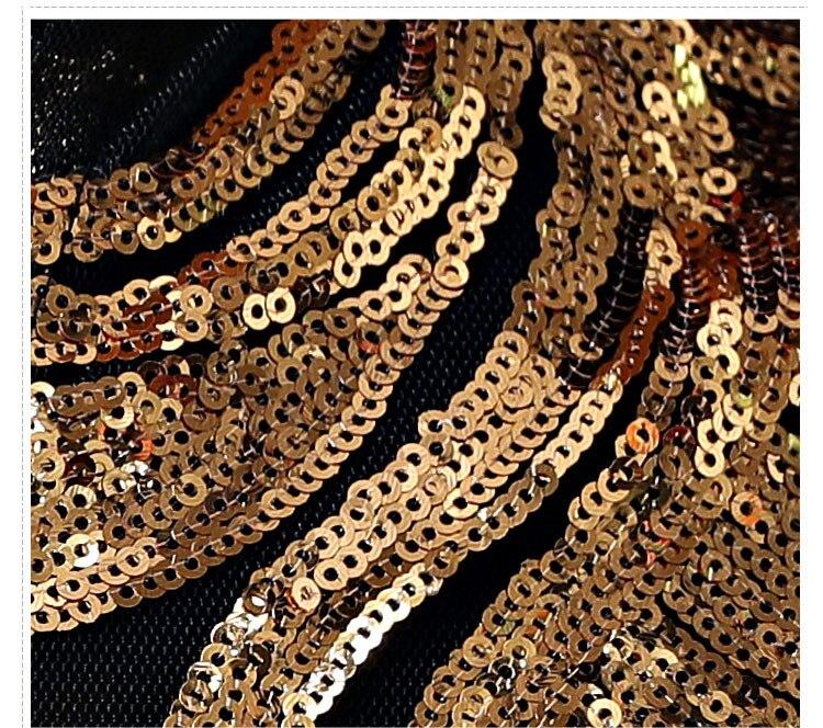2019 mode Design or argent paillettes veste hommes Sequin manteau marée mâle discothèque vêtements Hip Hop Rock DJ danseur scène Costume - 6