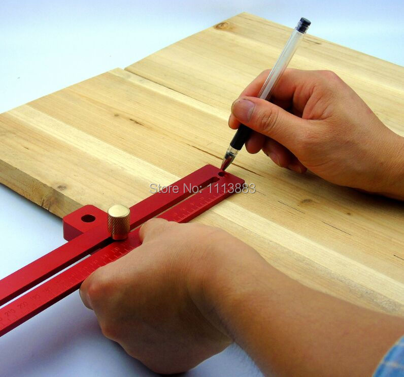 Купить с кэшбэком Adjustable Combination Square With Stop Woodworking Rule 200mm / 300mm / 400mm for you to choose