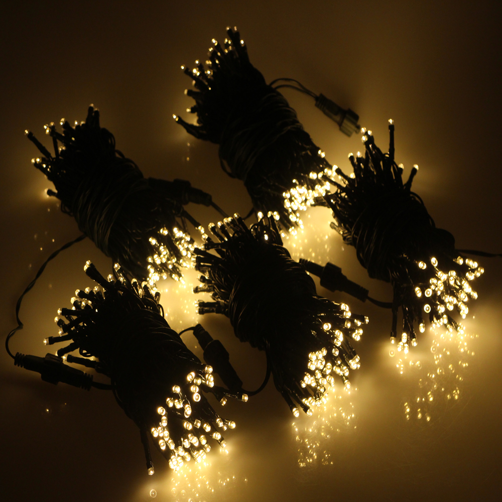 Christmas Garland String Lights : 50 led multi color light balls holiday decoration string white eu plug 500cm top-of-clinics.ru