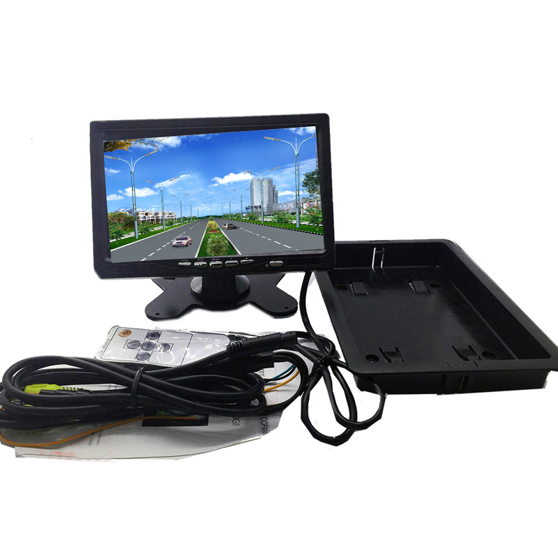 TOSPRA 7 Inch LCD Car Rear View Monitor High Resolutio Color Screen With Remote Remote