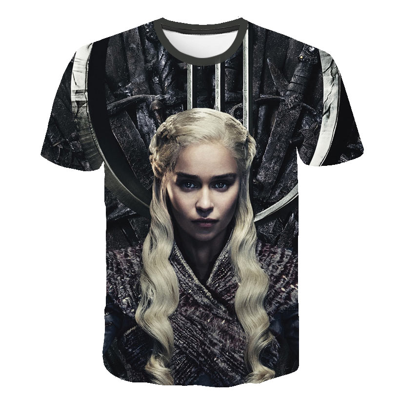 Man New Daenerys Targaryen Character O Neck Tshirt 3D Printed Game Of Thrones Large Size <font><b>T</b></font>-<font><b>shirt</b></font> <font><b>Men's</b></font> Leisure Tee S-<font><b>6XL</b></font> image