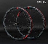 JK C6.0 super light Aluminum Road Bicycle Saled Bearing Wheelset Flat Spokes Racing 40mm Speed Rims 700C with anti cursor