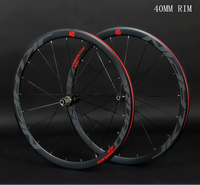 JK C6.0 super light Aluminum Road Bicycle Saled Bearing Wheelset Flat Spokes Racing 40mm Speed Rims 700C with anti cursor