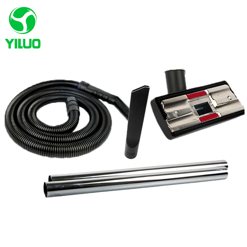 Outer Diameter 40mm Vacuum Cleaner EVA Hose + Straight pipe+Floor brush and nozzle for 15L 30L Industrial Vacuum Cleaner parts 2pcs high quality 15l industrial vacuum cleaner accessories straight pipe extension tube vacuum cleaner parts