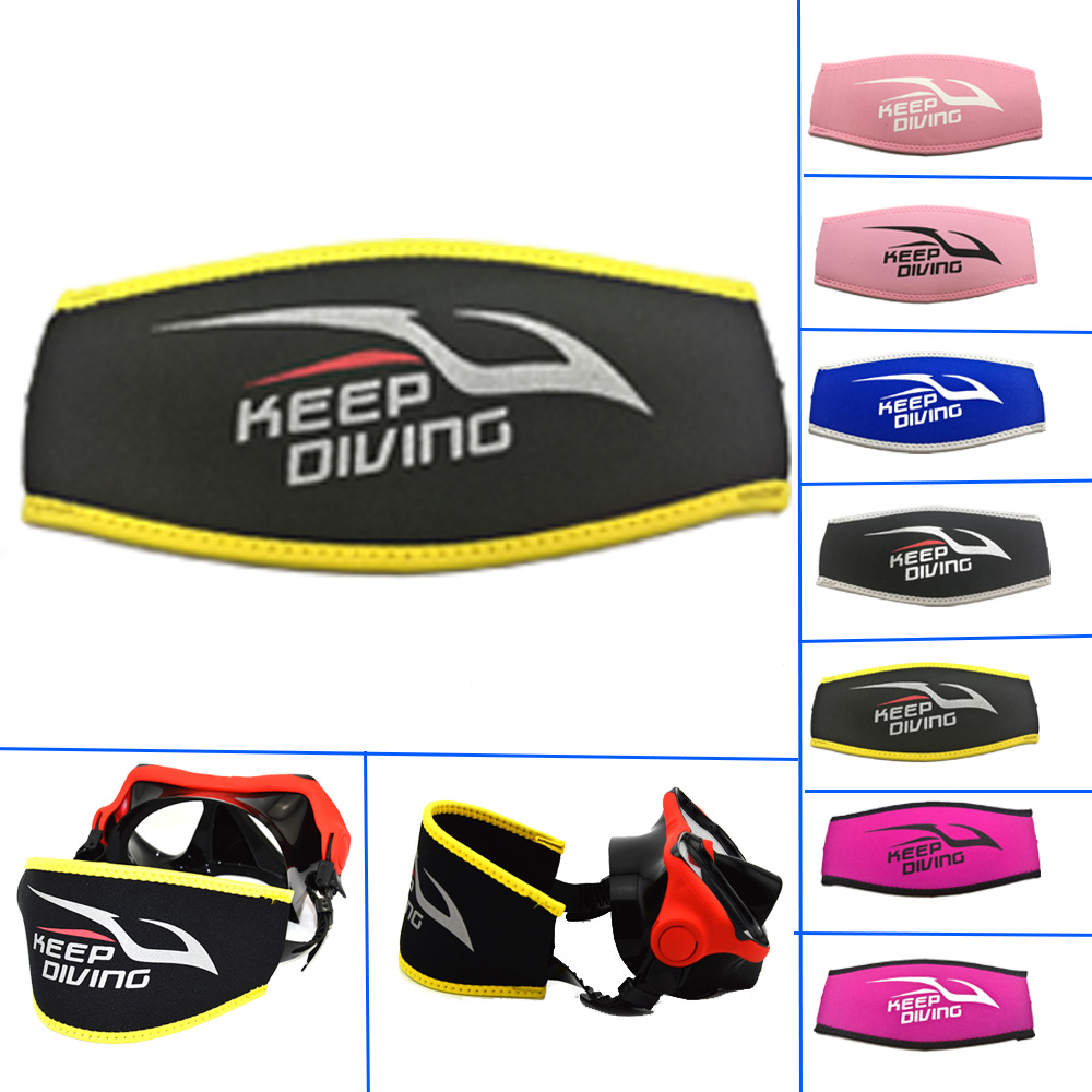 6 Colors Logo Printing Neoprene Scuba Diving Mask Strap Cover Padded Protect Long Hair Band Strap Wrapper Club Store Customized