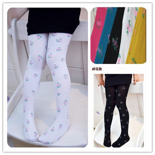 Hot-selling 2014 Summer Child Legging Elastic Velvet Print Pattern 5-9 Y Baby Girl Summer  Pants
