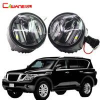 Cawanerl 2 X Car Style LED Fog Light Daytime Running Lamp DRL For Nissan Patrol III (Y62) 5.6 Closed Off Road Vehicle 2010 Up