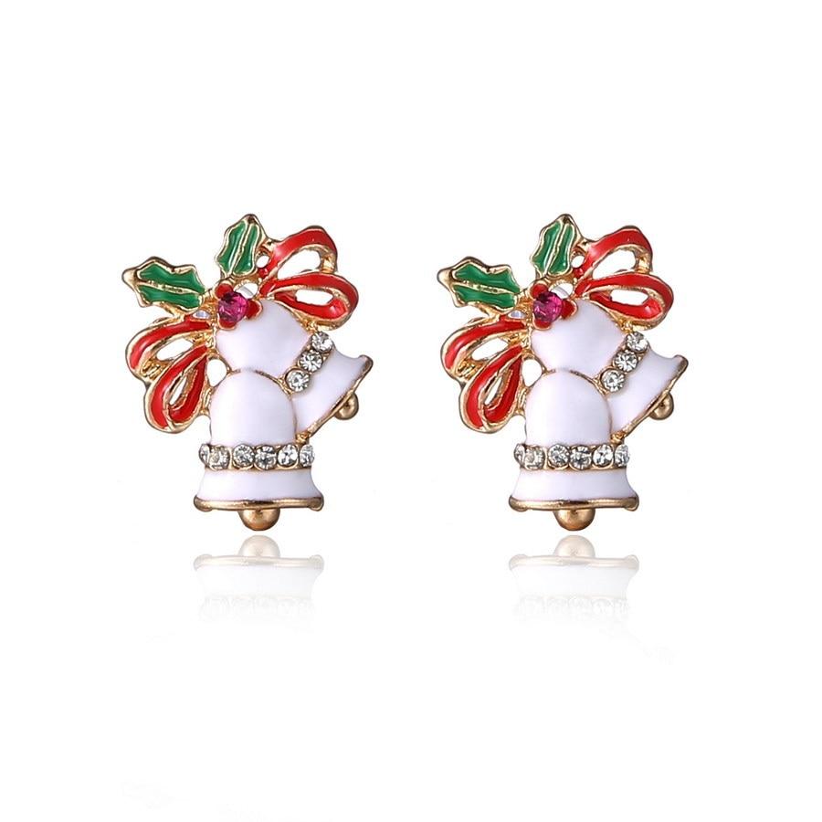ᐂ2018 cute Navidad pendiente con campana de cristal como regalo ...