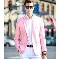Hombres traje rosa solapas capa a grano de la hebilla del ocio traje de fiesta de cumpleaños fiesta familiar hombre traje de moda personalización