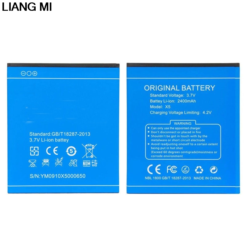 New Battery For Doogee X5 X5 Pro Mobile Phone Batteries 2400mAh Replace Rechargeable Accumulator with phone stander for gift